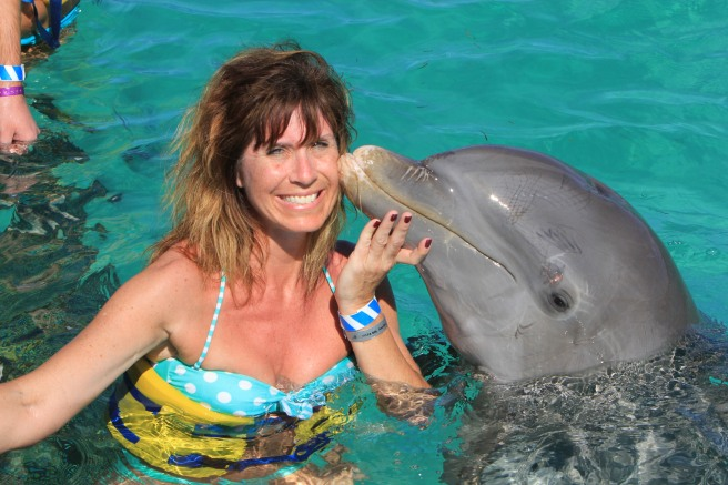 Jen with Dolphin